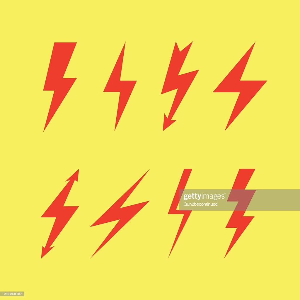 Thunderbolt signs , Flash icon