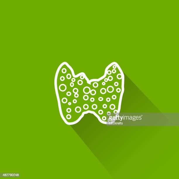 thyroid icon - thyroid gland stock illustrations, clip art, cartoons, & icons