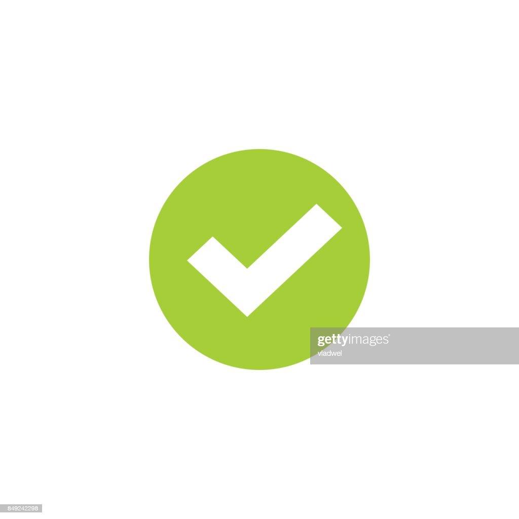 Tick Icon In Green Circle Vector Symbol Green Round Checkmark
