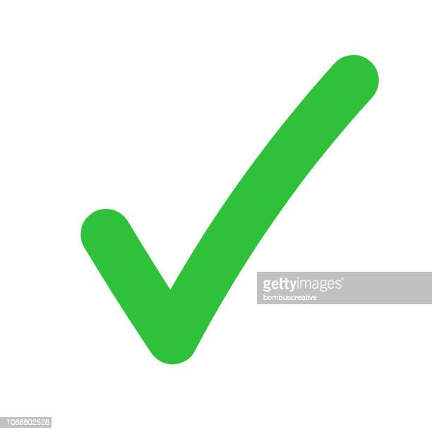 tick icon vector symbol - check mark stock illustrations