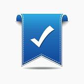 Tick Mark Vector blue Web Icon
