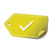 Tick Mark Yellow Vector Icon Design