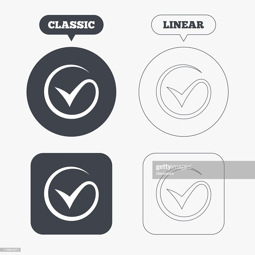 Tick Sign Icon Check Mark Symbol Vector Art Getty Images