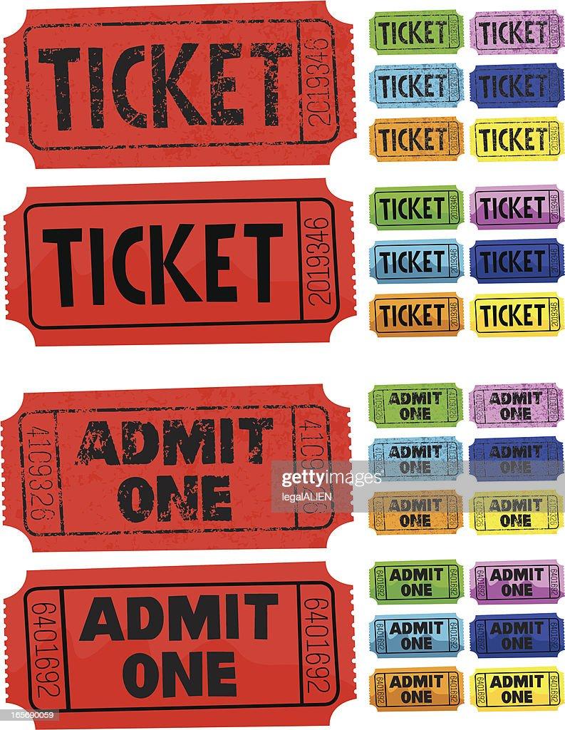 Ticket Admit One : stock illustration