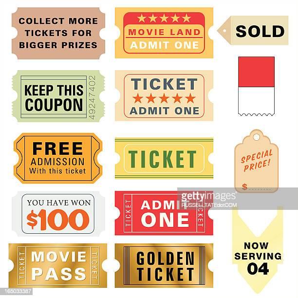 ticket art elements - ticket stock illustrations, clip art, cartoons, & icons