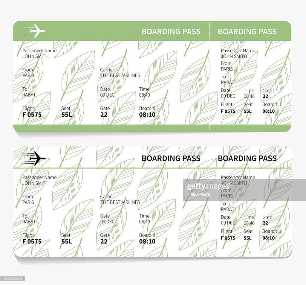 ticket boarding pass