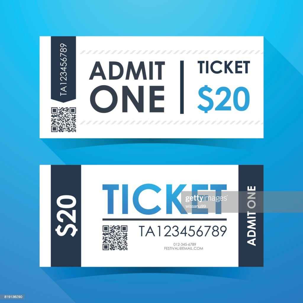 Ticket card. Element template for graphics design. Vector illustration.
