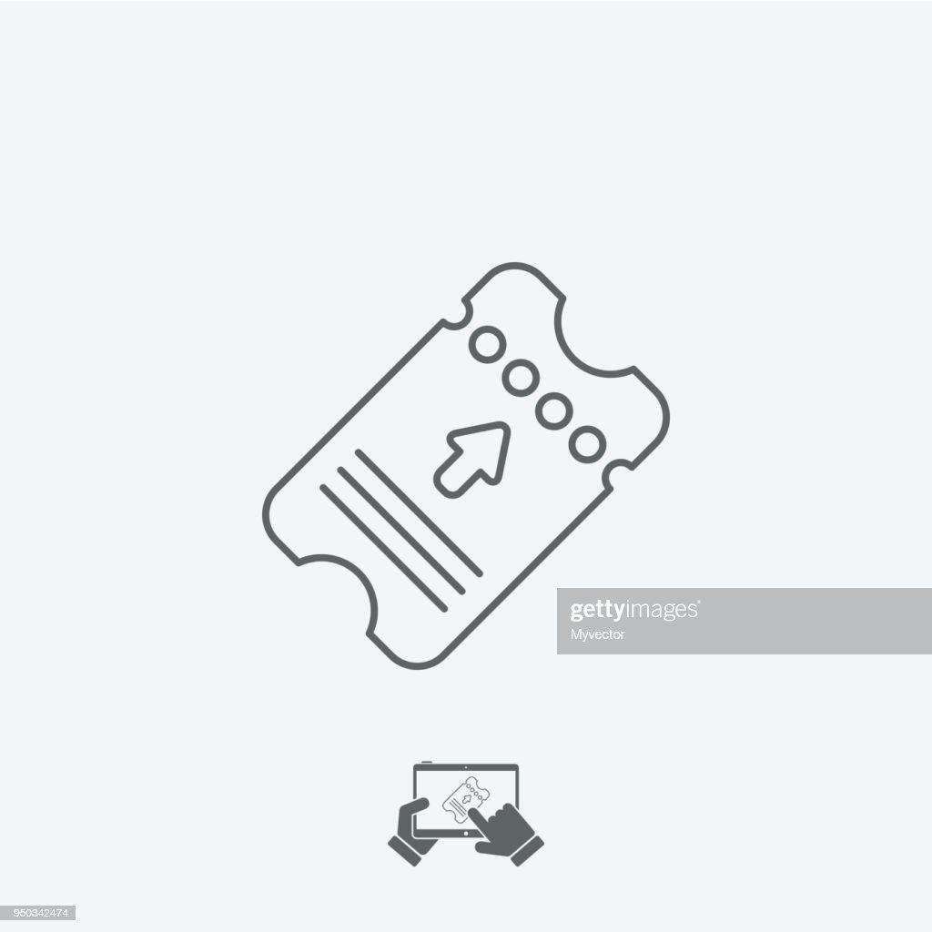 Ticket concept - Thin icon