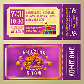 Ticket for admission to circus show