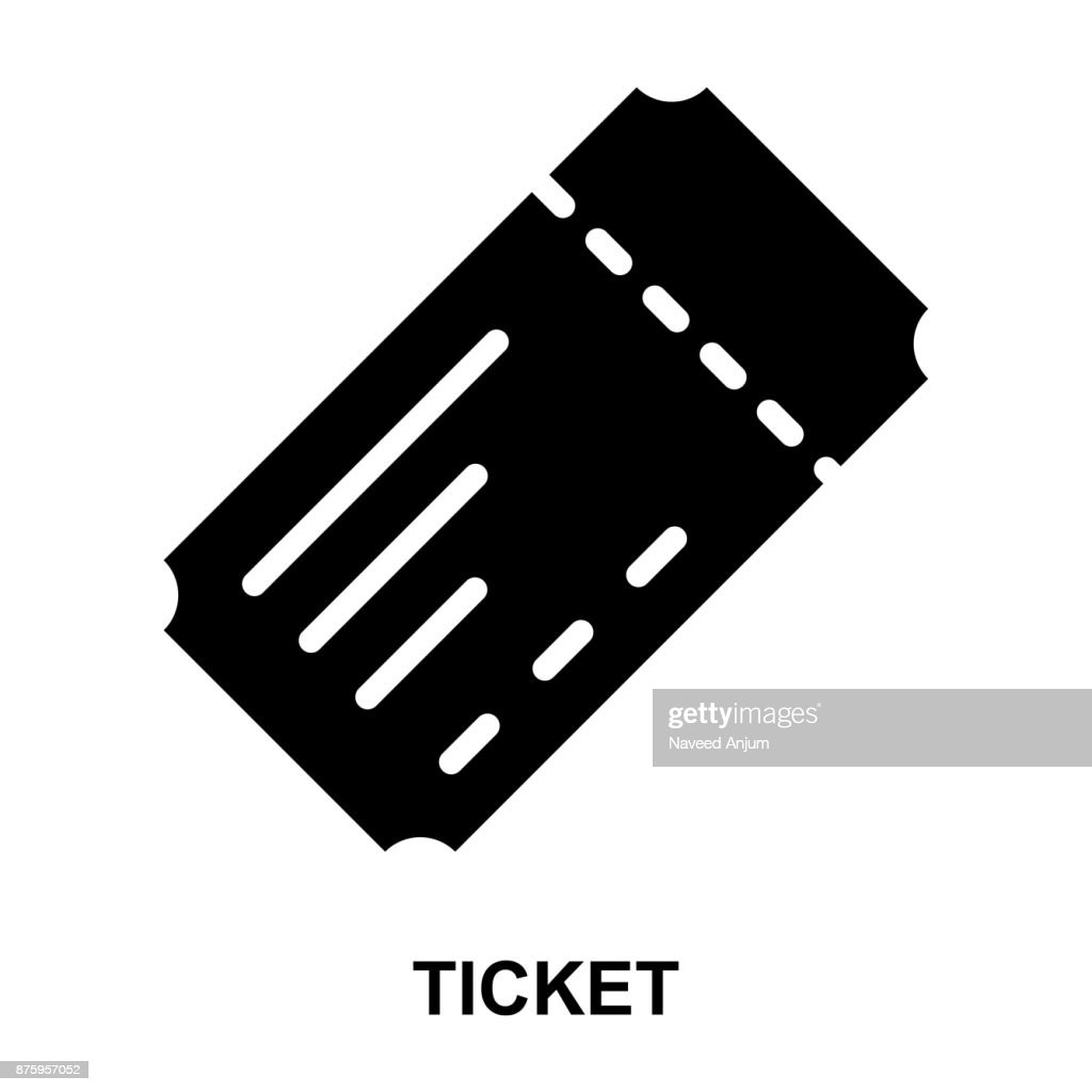 ticket Glyphs Vector Icons