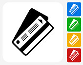 Ticket Icon Flat Graphic Design