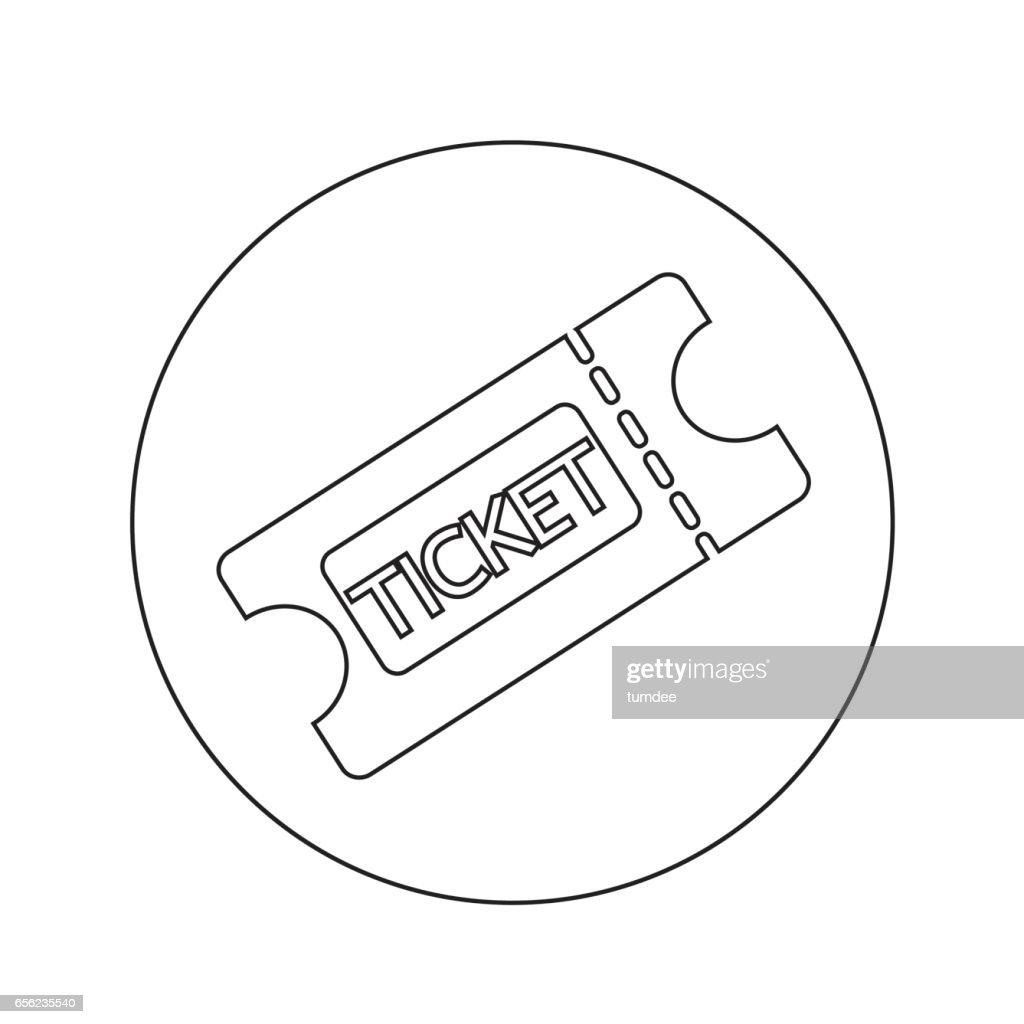 ticket icon illustration design