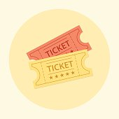 Ticket icon in the flat style.