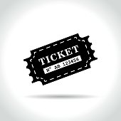 ticket icon on white background
