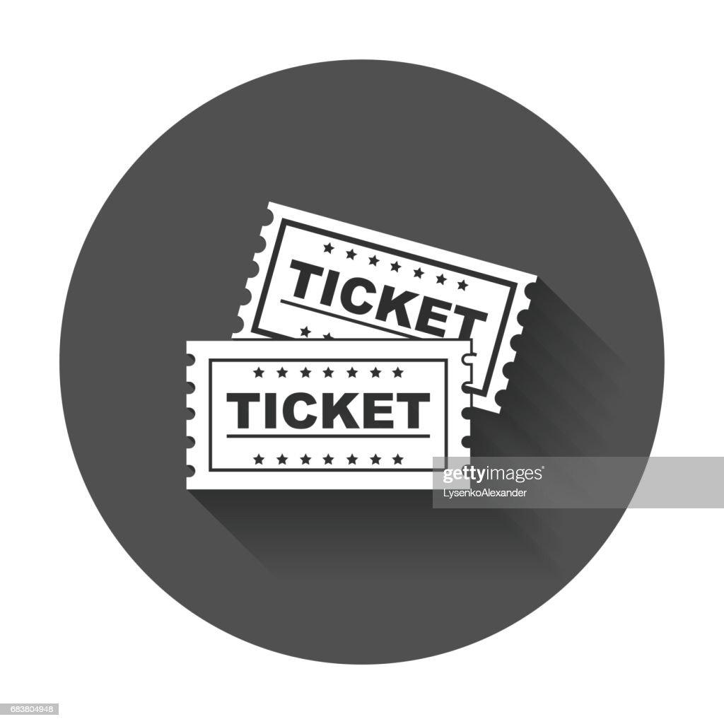 Ticket icon vector flat.