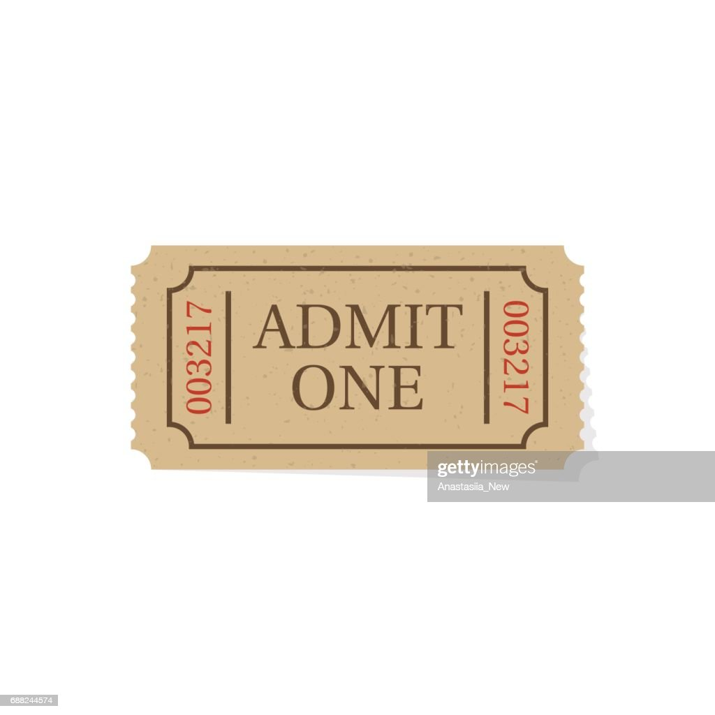 Ticket isolated on white background