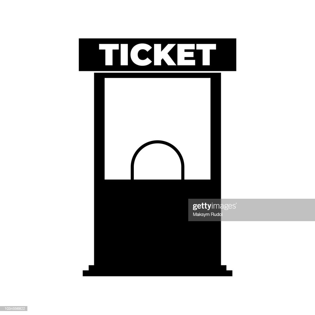 Ticket office icon on white background