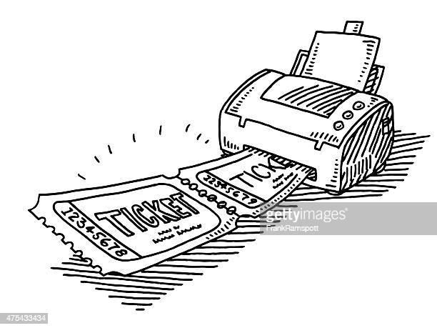 Ticket Printing At Home Drawing