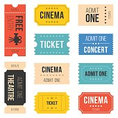 Ticket set for cinema
