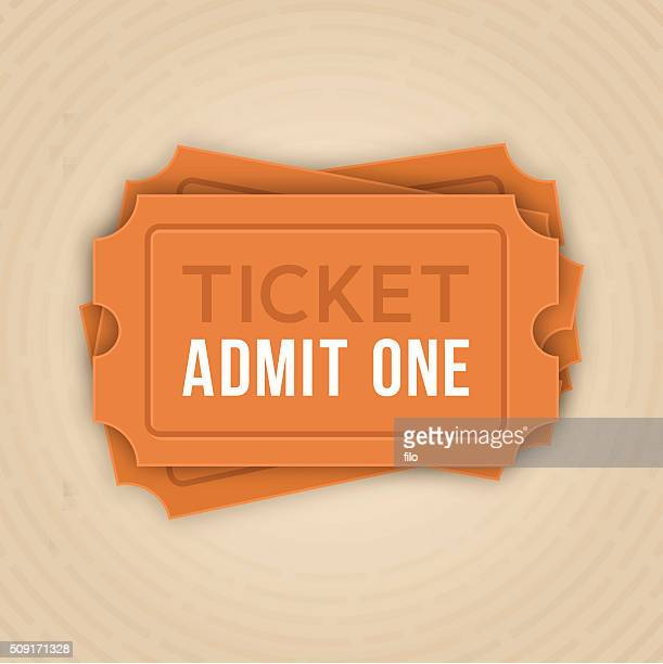 ticket stack admit one - school carnival stock illustrations, clip art, cartoons, & icons