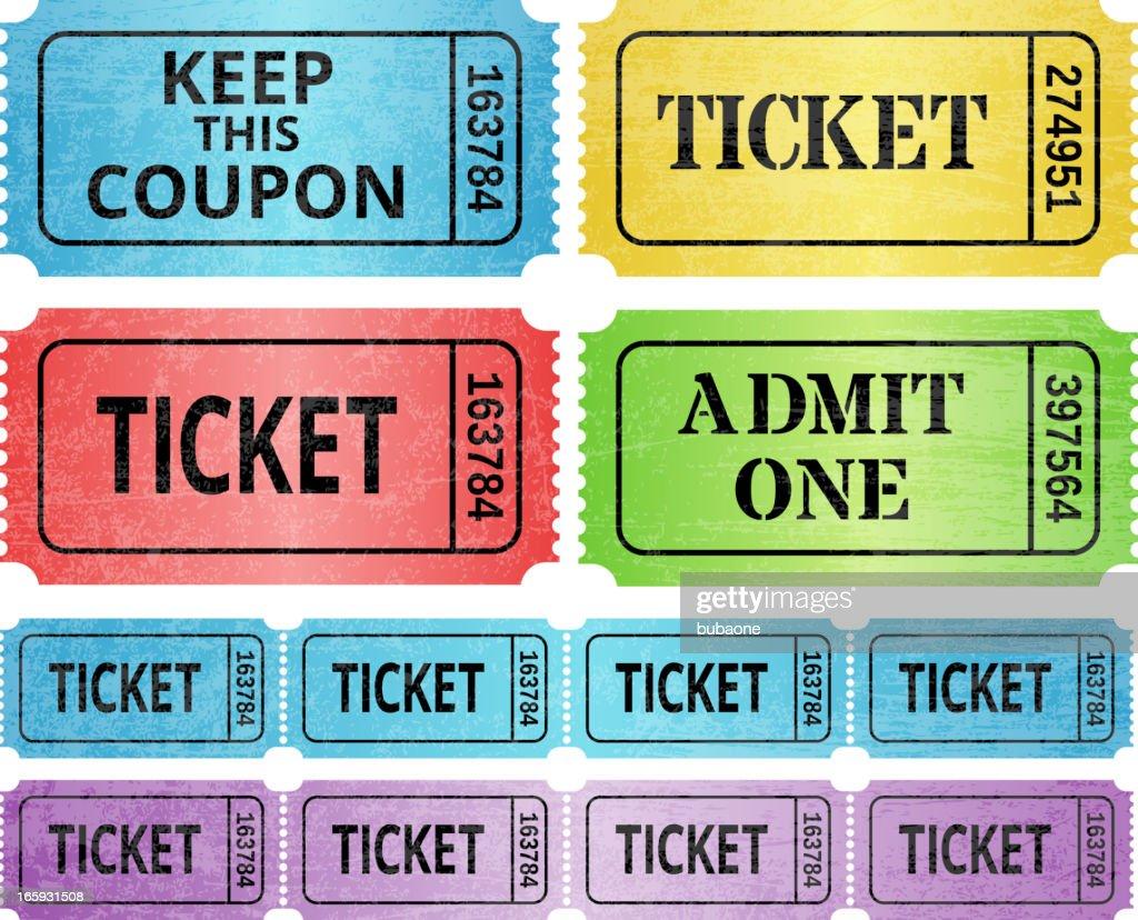 raffle ticket with stub stock image image of isolation 2444899