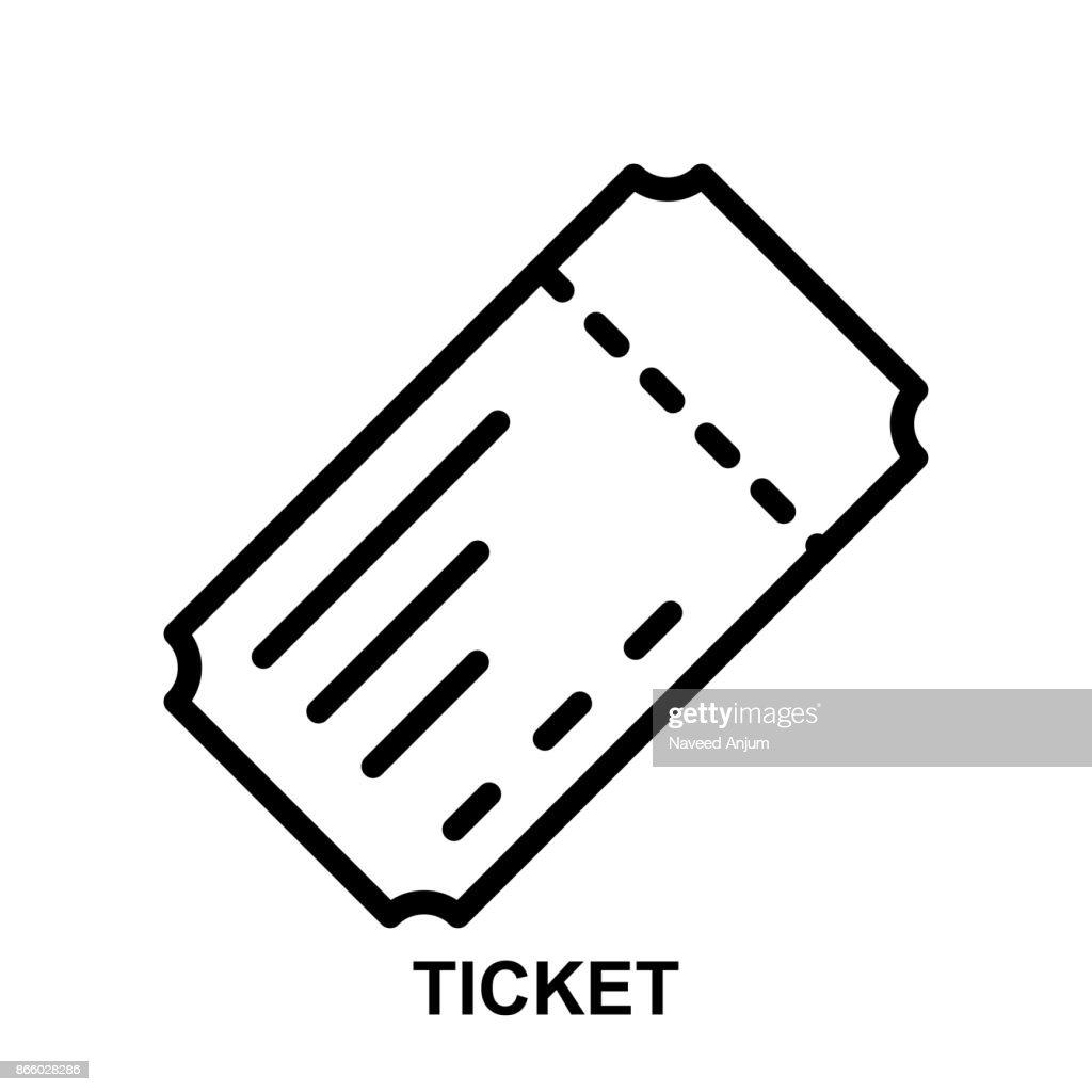 ticket thin line vector icon