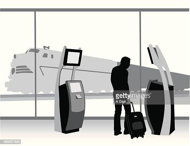 Ticket To Ride Vector Silhouette