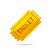 Ticket vector isolated