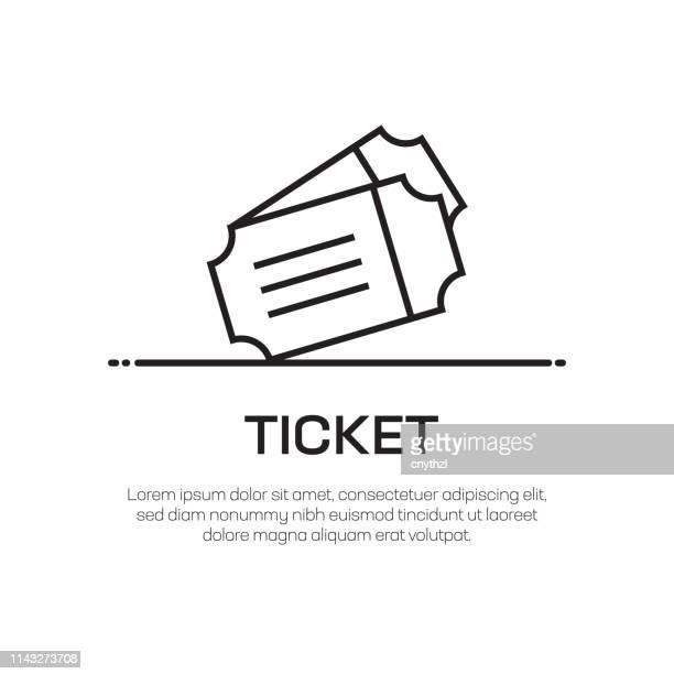ticket vector line icon - simple thin line icon, premium quality design element - raffle stock illustrations