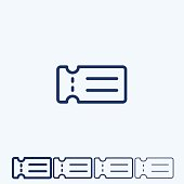 Ticket vector  line icon
