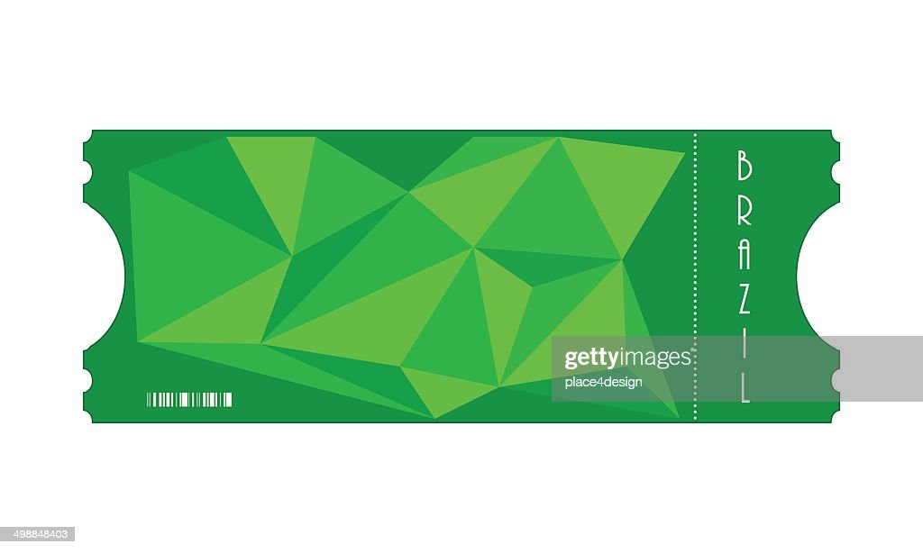 ticket with triangle design