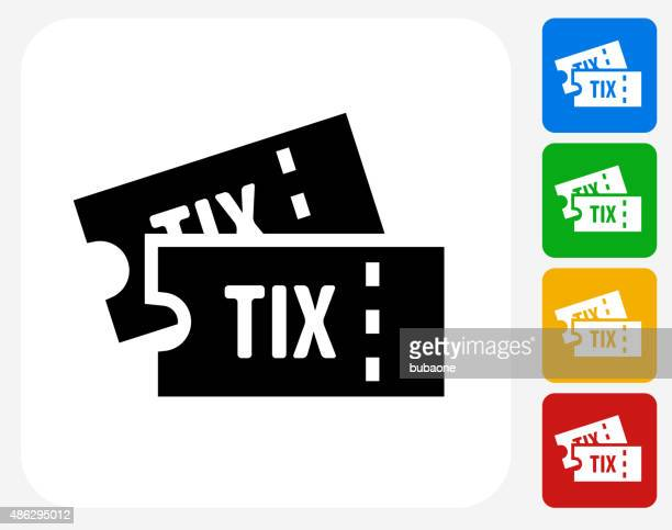 Tickets Icon Flat Graphic Design