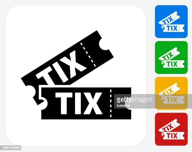 Tickets Icon Flat Graphic Design