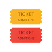 Tickets icons design