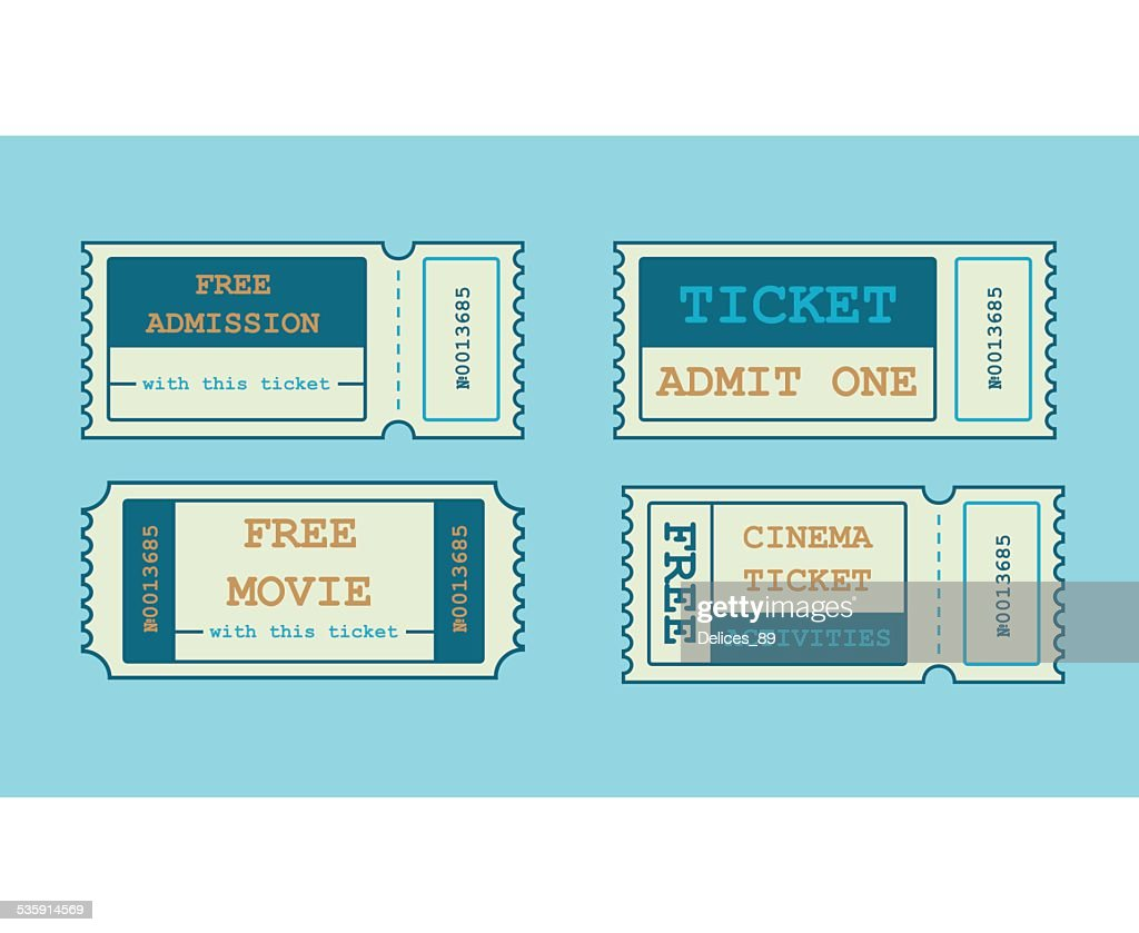 Tickets in Flat style. - Illustration