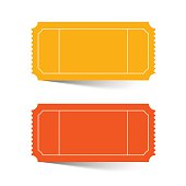 Tickets Set - Red and Orange Vector
