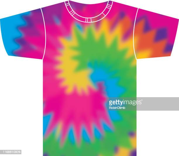 tie dye t shirt - tie dye stock illustrations