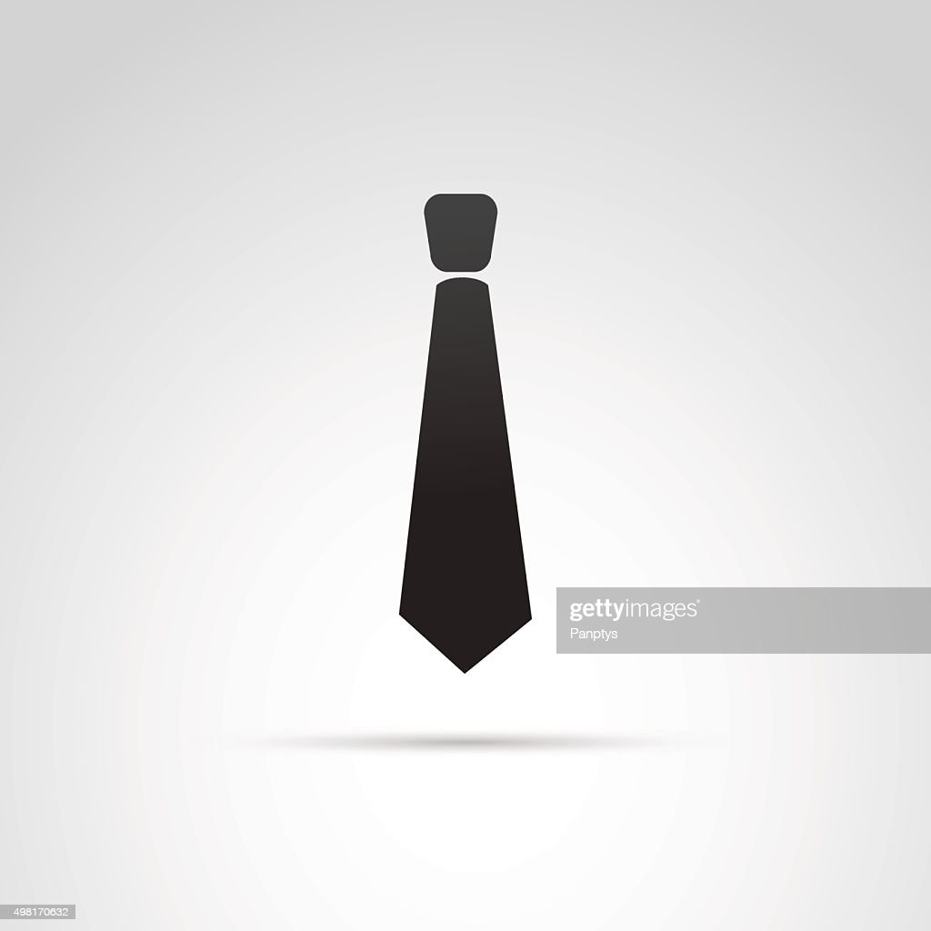 Tie icon isolated on white background.