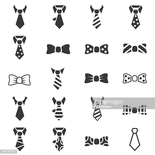 Tie icon set