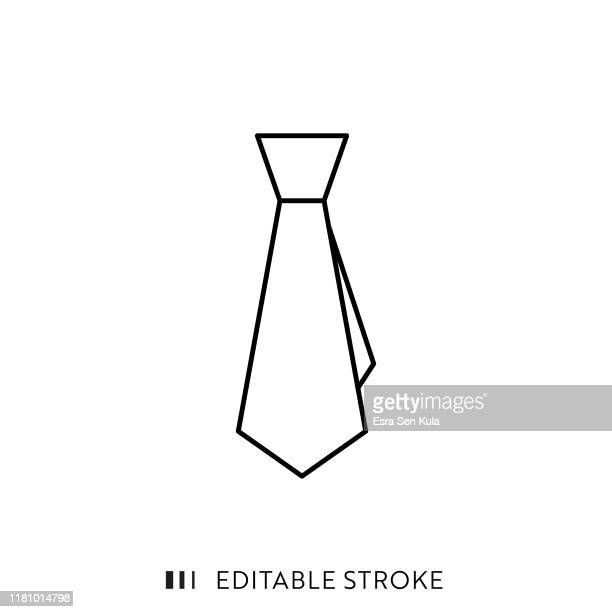 tie icon with editable stroke and pixel perfect. - tied up stock illustrations