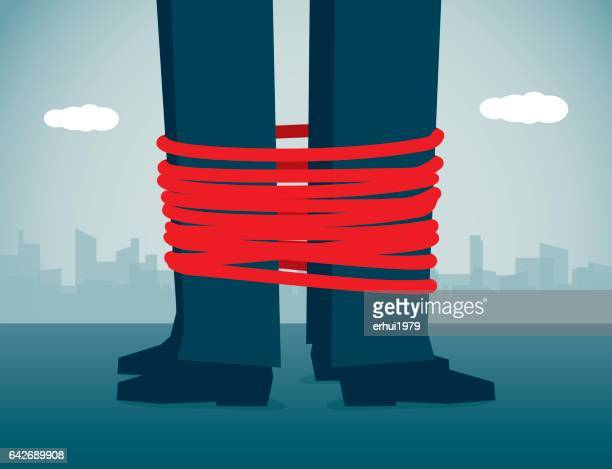 tied up - tied up stock illustrations