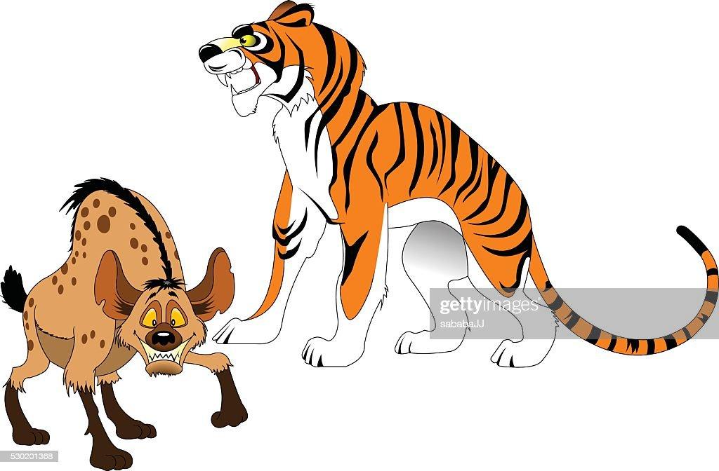 tiger and hyena