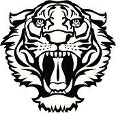 Tiger black/white tattoo