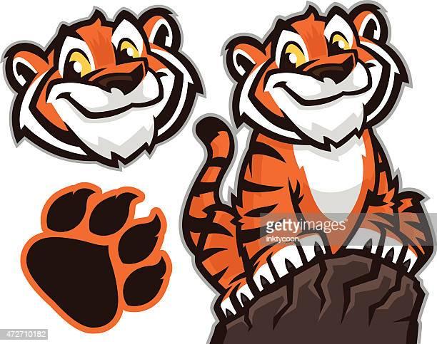 ilustraciones, imágenes clip art, dibujos animados e iconos de stock de cachorro de tigre - tigre