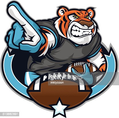 Tiger Football Player stock illustration - Getty Images