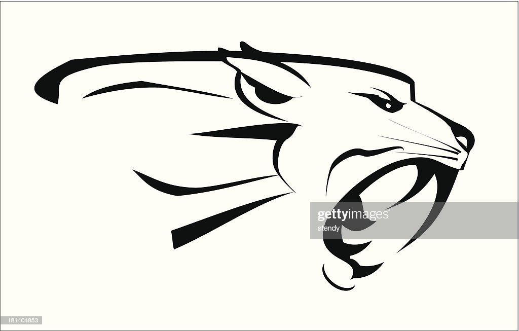 tiger head, roaring fang face