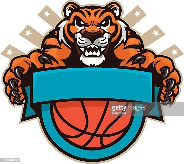 トラのマスコットバスケットボール
