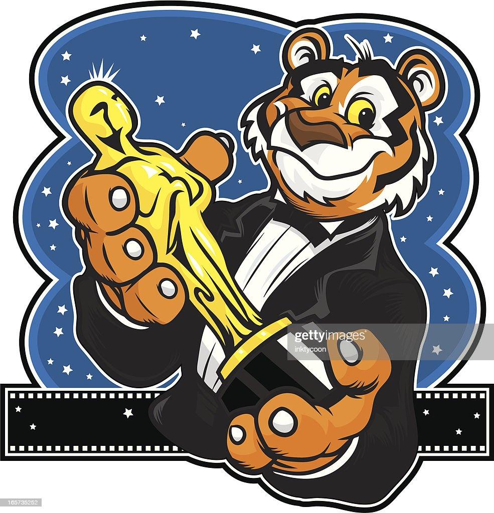 Tiger Mascot oscars : stock illustration