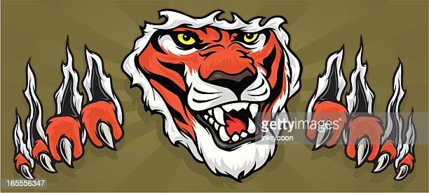 Tiger Ripping through shirt/