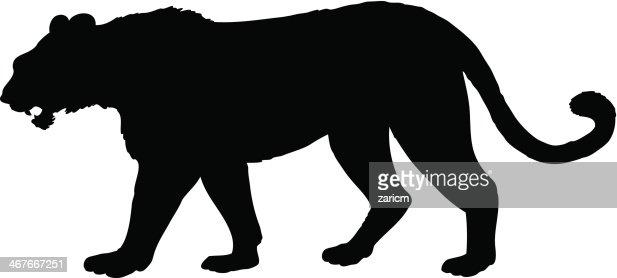 tiger silhouette vector art getty images cheetah paw print vector Cheetah Print Pattern